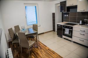 A kitchen or kitchenette at Apartamenty KORONA