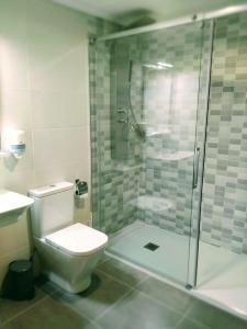 A bathroom at Hotel Anunciada