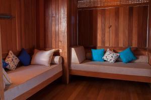 A seating area at Jaguaribe Lodge e Kite