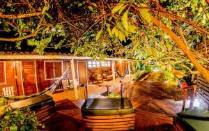 Um restaurante ou outro lugar para comer em Pousada Lenda das Águas