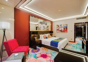 A bed or beds in a room at NagaWorld Hotel & Entertainment Complex