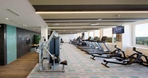The fitness center and/or fitness facilities at Radisson Blu Hotel Olümpia