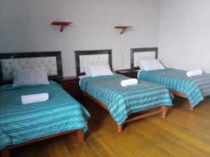 Cama o camas de una habitación en Misti Hostel B&B