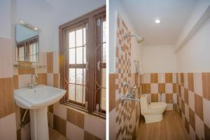 A bathroom at Waling Fulbari Guest House