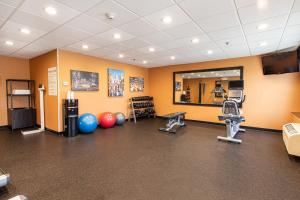 The fitness center and/or fitness facilities at Holiday Inn St. Louis Airport West Earth City, an IHG Hotel