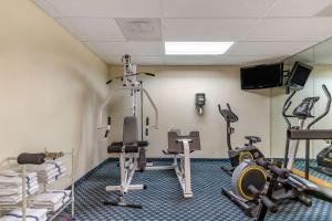 The fitness center and/or fitness facilities at Quality Inn San Antonio Fiesta at Six Flags