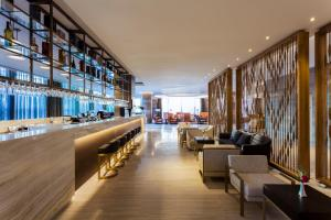 The lounge or bar area at Crowne Plaza Vientiane, an IHG Hotel