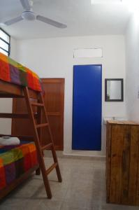 A bunk bed or bunk beds in a room at Hostal Las Cruces