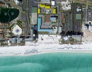 A bird's-eye view of St. Martin Beachwalk Villas 431 by RealJoy Vacations