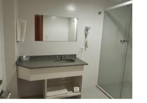 A bathroom at Letto Hotel Porto Alegre