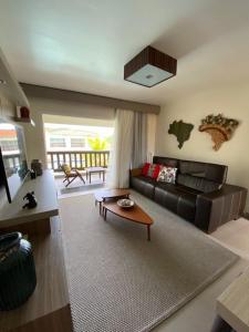 A seating area at Buzios Beach Resort Residencial 2501e2502