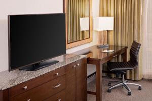 A television and/or entertainment center at DoubleTree by Hilton Hotel Boston Bayside