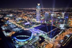 A bird's-eye view of Holiday Inn Express & Suites Oklahoma City Downtown - Bricktown, an IHG Hotel