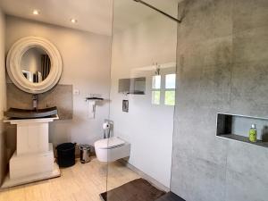 Salle de bains dans l'établissement La vie de chateau