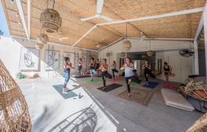 The fitness center and/or fitness facilities at Selina Santa Teresa South