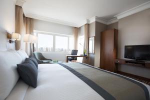 Телевизор и/или развлекательный центр в Holiday Inn Abu Dhabi Downtown, an IHG Hotel