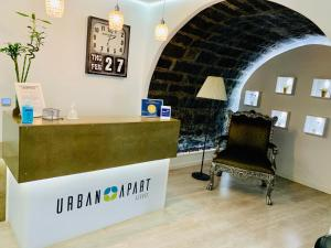 The lobby or reception area at Urban Azores