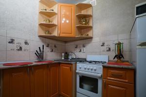 Кухня или мини-кухня в Apartment Kolya Myagotina 72