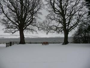 Kiltearn Guest House during the winter