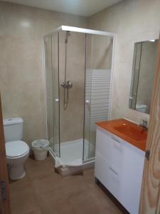 A bathroom at Albergue de las estrellas