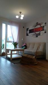 A seating area at PL Studija
