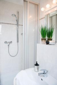 Ein Badezimmer in der Unterkunft Landhaus Artischocke