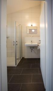 Ein Badezimmer in der Unterkunft Gästehaus Turmblick