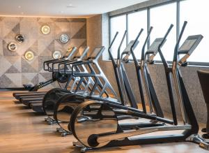 The fitness center and/or fitness facilities at Hotel SOFIA Barcelona, in The Unbound Collection by Hyatt