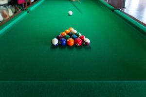 A billiards table at Hotel Atalaia do Mariscal