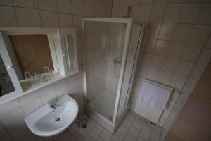 Ein Badezimmer in der Unterkunft Hotel-Restaurant Forellenzucht