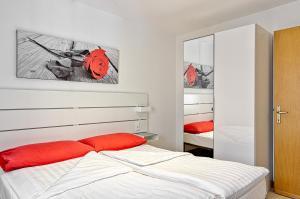 Letto o letti in una camera di Casa Raffaele