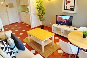 Zona de estar de Baluarte da Vila Apartments