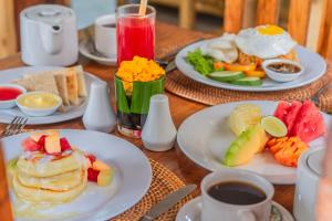Breakfast options available to guests at The Runik Ubud