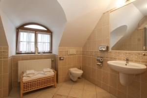 Koupelna v ubytování Penzion Lhotka