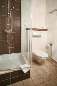 Ein Badezimmer in der Unterkunft Hotel-Restaurant Alter Krug Kallinchen