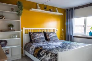 Een bed of bedden in een kamer bij CasaLuca