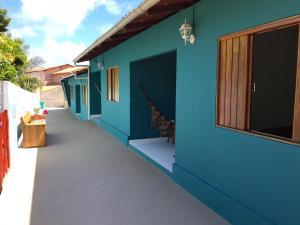 A balcony or terrace at Flat Vila Dos Milagres