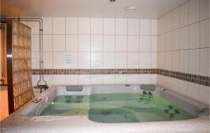 Ett badrum på 0-Bedroom Apartment in Ramkvilla