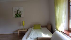 Łóżko lub łóżka w pokoju w obiekcie Villa Sole