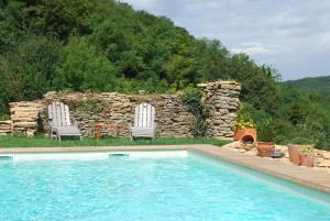 The swimming pool at or near Chambres d'hôtes Soleil et Cacao