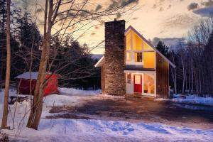 Classic Stowe Ski Chalet chalet during the winter
