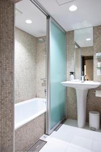 A bathroom at Aoi Kyoto Stay