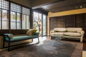 A seating area at Aoi Kyoto Stay