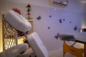 A bathroom at Grande Hotel da Barra