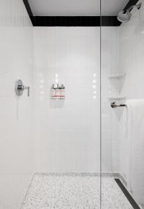 A bathroom at TWA Hotel at JFK Airport