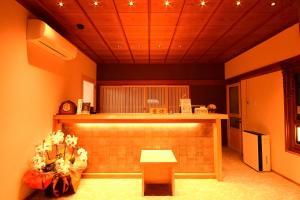 The lobby or reception area at Koyasan Shukubo Fudoin