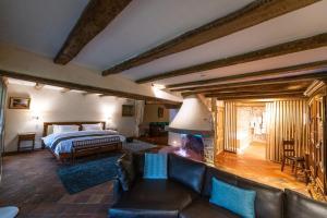Un ou plusieurs lits dans un hébergement de l'établissement Auberge Saint Walfrid
