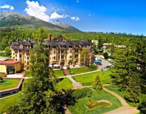A bird's-eye view of Grand hotel Starý Smokovec