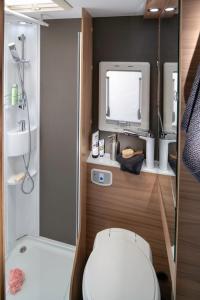 A bathroom at REVAN