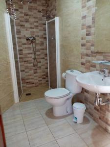 A bathroom at Hostal la Campa